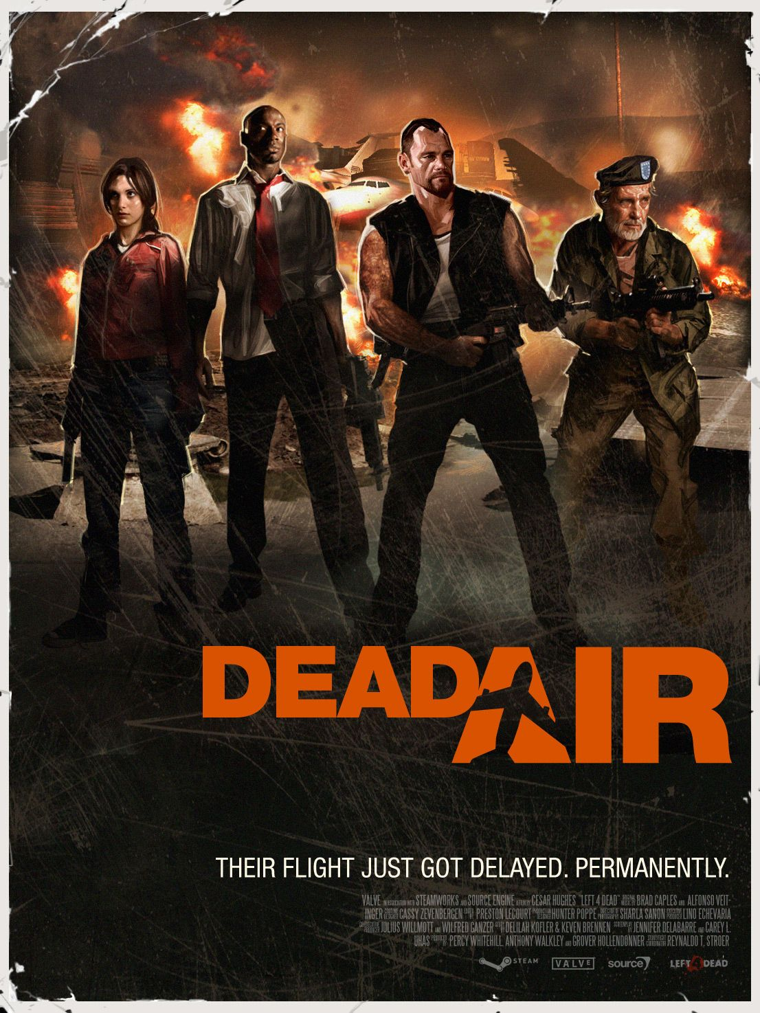 Get To The Runway Of Metro Airport For An Airlift Rescue Dead Air Is The Fourth Campaign In Left 4 Dead Left 4 Dead Left 4 Dead Game 90s Cartoons