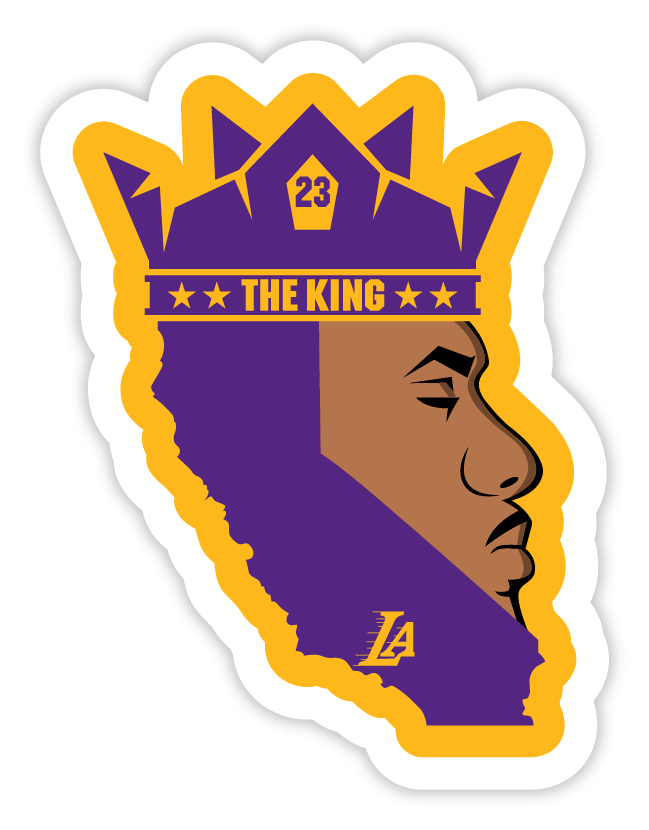 e4d8c1e42 King James 23 SVG File , Lakers SVG file of Lebron James by WashedBrain,  $4.95 USD