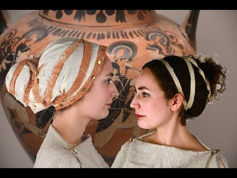 Greeks used simple tools and techniques to put their hair into buns, using wraps, ribbons and wreaths to decorate their hair.