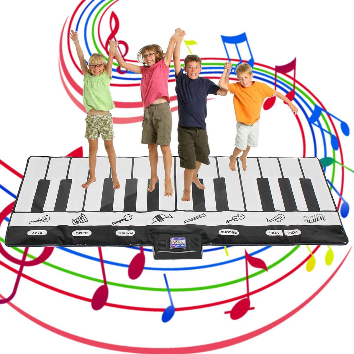 Fold Able Play Floor Piano Kid Stepping Toys Electronic Keyboard