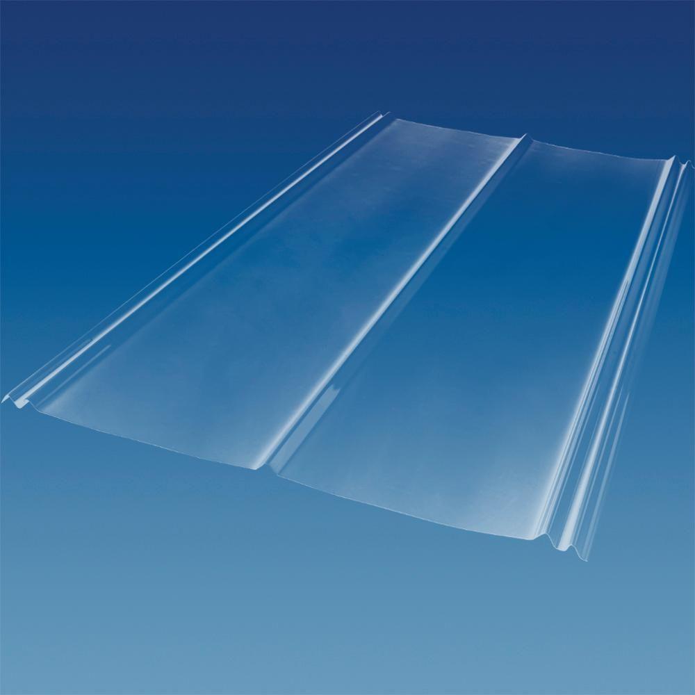 6 Ft Sunsky 5v Crimp Polycarbonate Roof Panel In Clear 174060 The Home Depot In 2020 Polycarbonate Roof Panels Roof Panels Clear Roof Panels