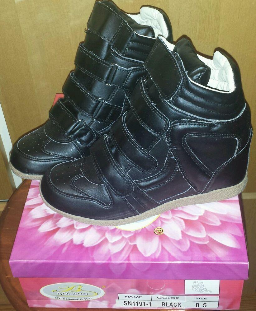 Black Bolaro by Summer Rio Wedge Sneaker size 8.5 SN11911