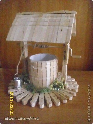 M s y m s manualidades crea un pozo decorativo usando - Manualidades con madera ...