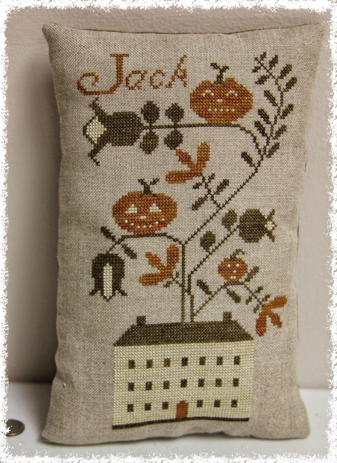 Jack/'s House Pumpkin Pinkeep Stacy Nash Primitives Cross Stitch Pattern