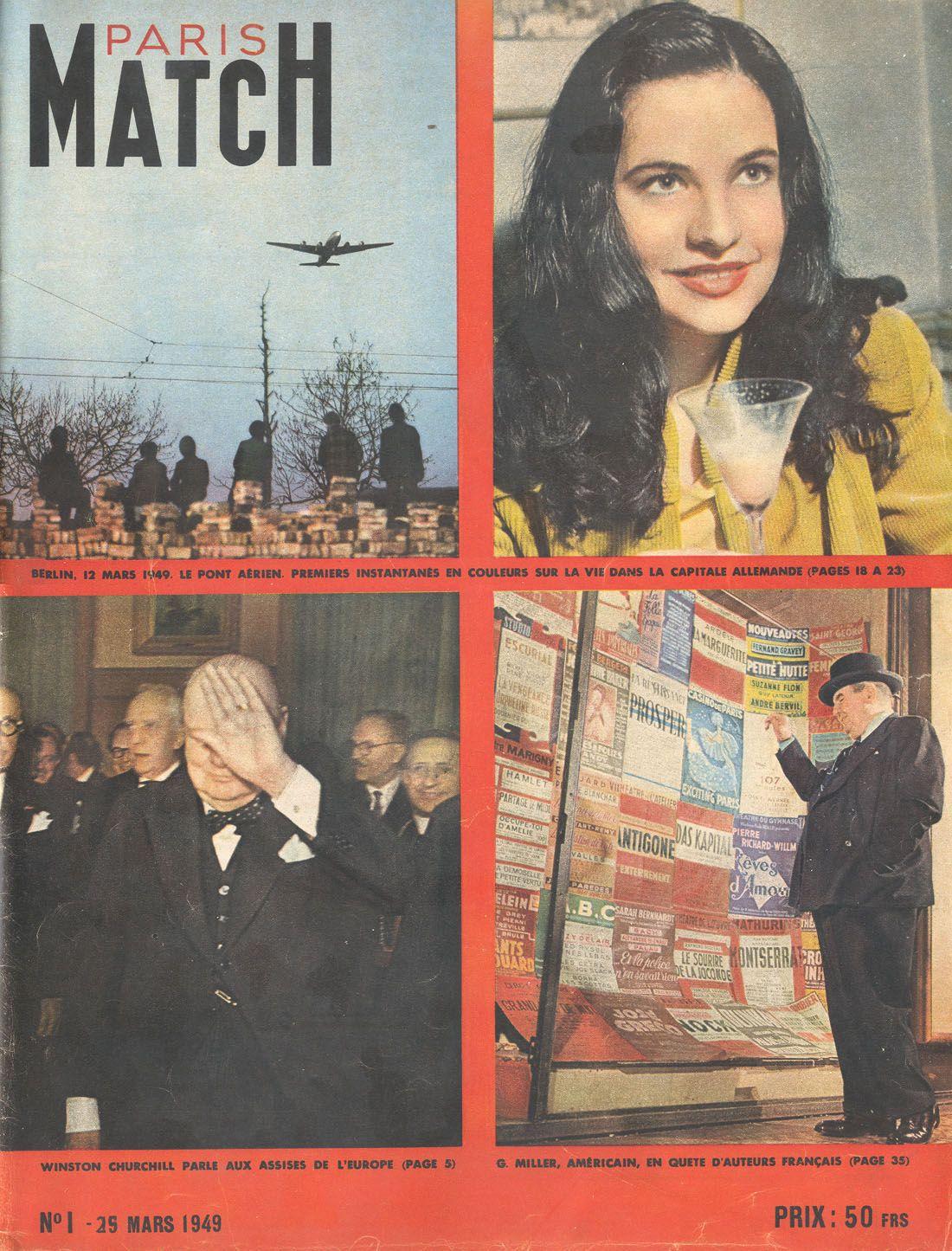 paris match num ro 1 25mars 1949 l 39 homme d 39 affaires fran ais jean prouvost lance une. Black Bedroom Furniture Sets. Home Design Ideas