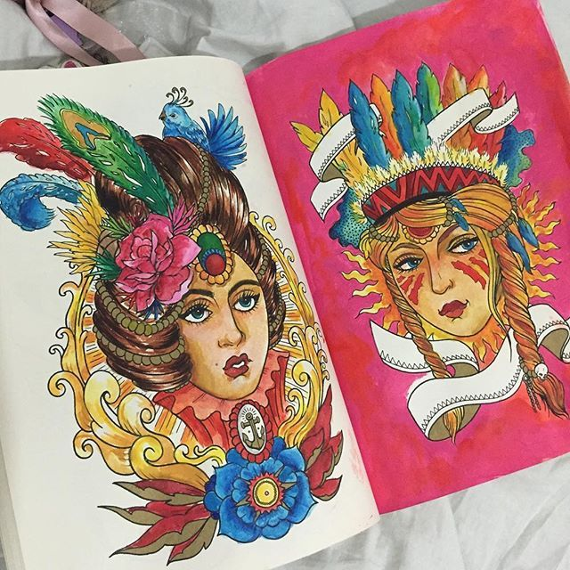Best Coloring Book Ever Colorpencil Pencildrawing Draw Paint Acrylics Watercolor
