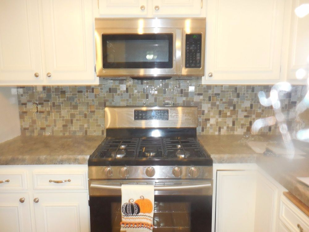 Painting Kitchen Counters And Back Splash Makeover