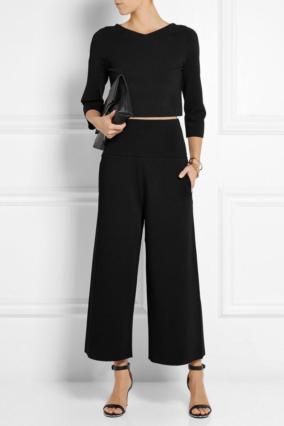 Stella McCartney - Cropped jersey wide-leg pants