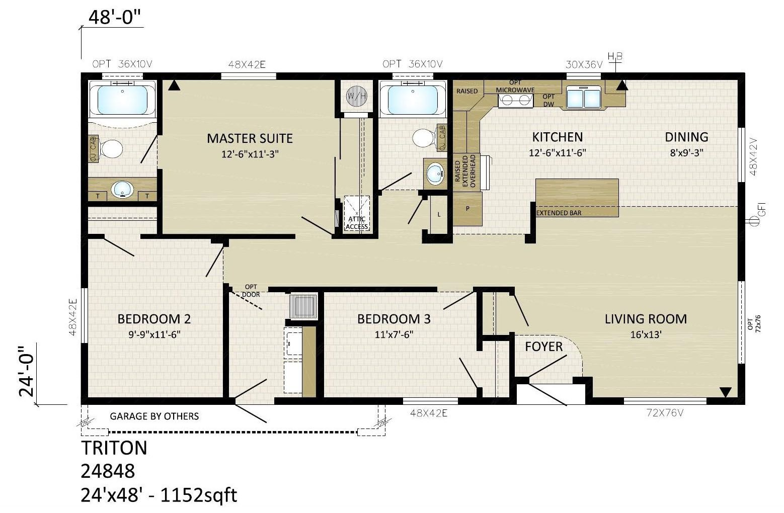 24 x 48 homes floor plans - Google Search | Floor plans ... Raised Ranch House Plans X on