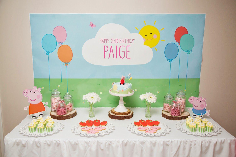 Piece Of Cake Paige39s 2nd Birthday Peppa Pig Theme