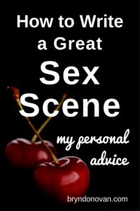 Writing romance novel sex scenes