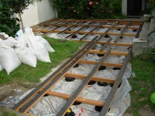 Construire Une Terrasse En Bois Sur Terre Avec Images Terrasse Bois Construire Terrasse Bois