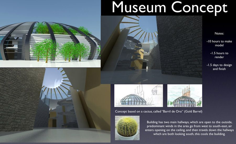 Museum concept sheet by for Architectural design concept sheet