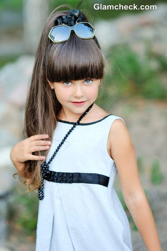 Styling Ideas For Little Girls With Long Hair And Bangs Kids