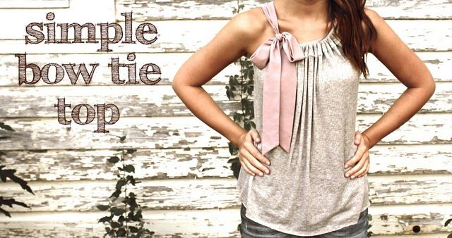 bow tie top - maybe to coordinate with a pillow case dress for A