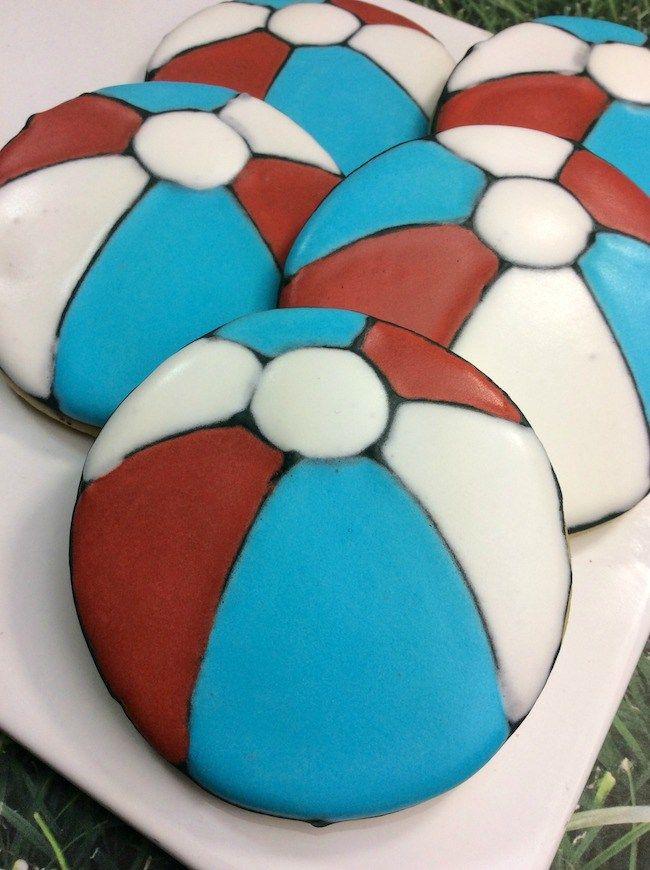 Patriotic Beach Ball Cookies   Recipe   Cookie recipes ...