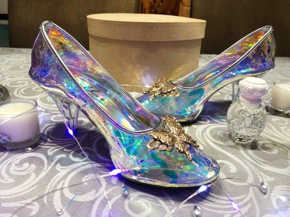 Cinderella Glass Transparent Slipper For Wedding New Etsy In 2020 Cinderella Wedding Shoes Crystal Shoes Glass Slipper Cinderella