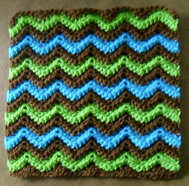 Ripple Afghan Square pattern by Hazel Furst | Knitting & Crochet ...