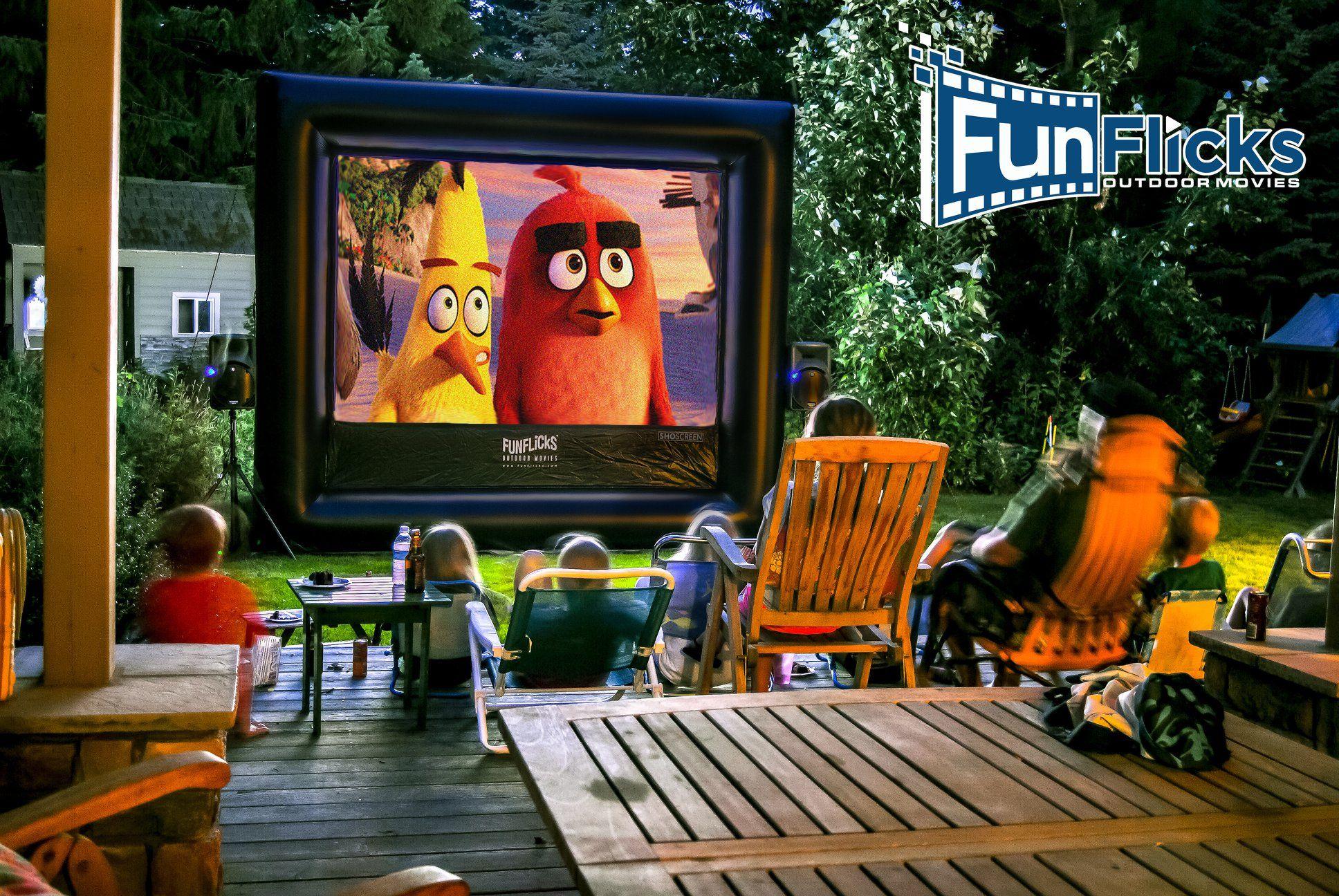 Fun outdoor movie night in your backyard funflicks