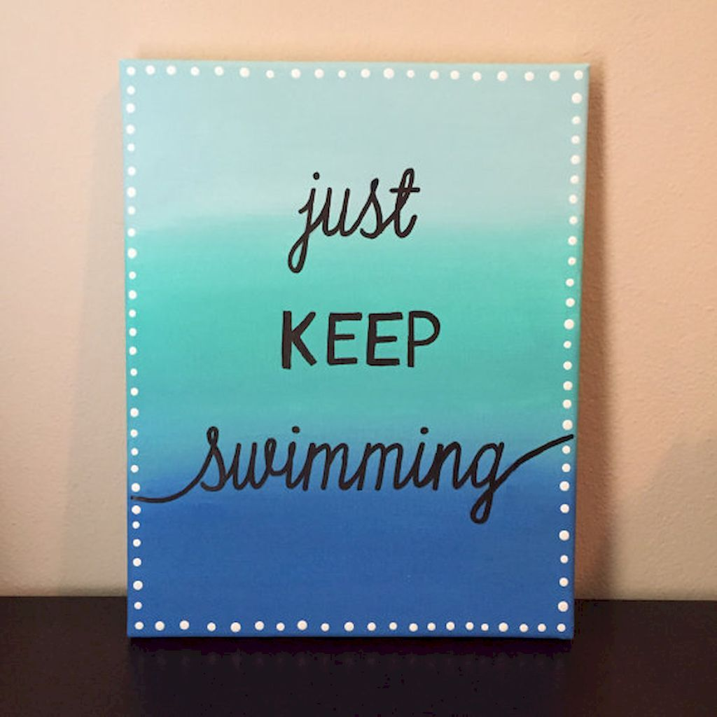 60 Inspirational Canvas Painting Ideas With Quotes To Decorate