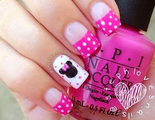 Unas Disenos Minnie Mouse Uñas Pinterest Disney Nails Nails Y