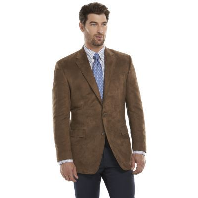 Men's Chaps Classic-Fit Tan Suede Sport Coat - Men $89.99 | Black ...