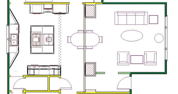 kitchen blueprints floor plan | ... to the right place for kitchen ...