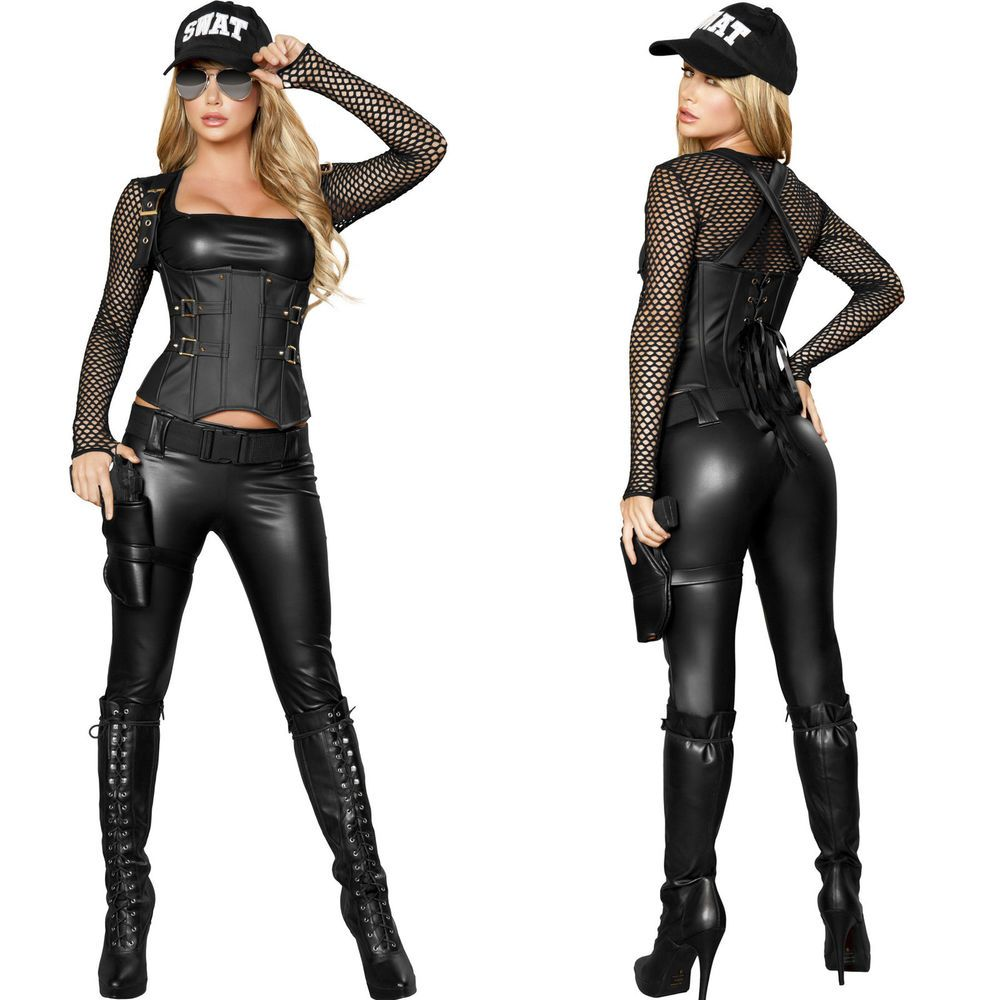 Genuine Roma Product Sexy New Womens Adult Ladies SWAT CSI FBI Halloween Costume  sc 1 st  Pinterest & Genuine Roma Product Sexy New Womens Adult Ladies SWAT CSI FBI ...
