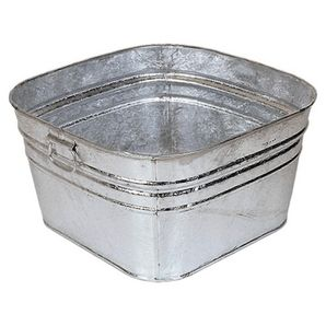 20 X 20 X 11 58l Square Galvanized Utility Tub For Shelves Of Bathroom Vanity Galvanized Wash Tub Wash Tubs Galvanized Tub
