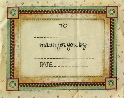 Labeling your quilts are a must...find out why Free quilt labels lessons