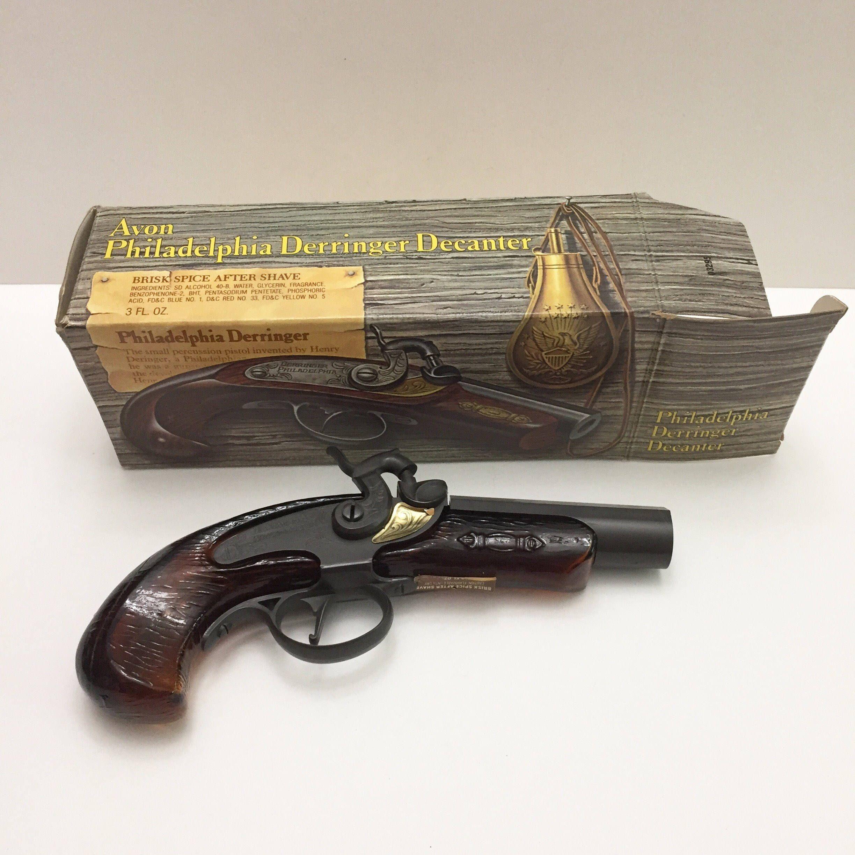 Vintage Avon Decanter Philadelphia Derringer Gun Bottle Figurine ...