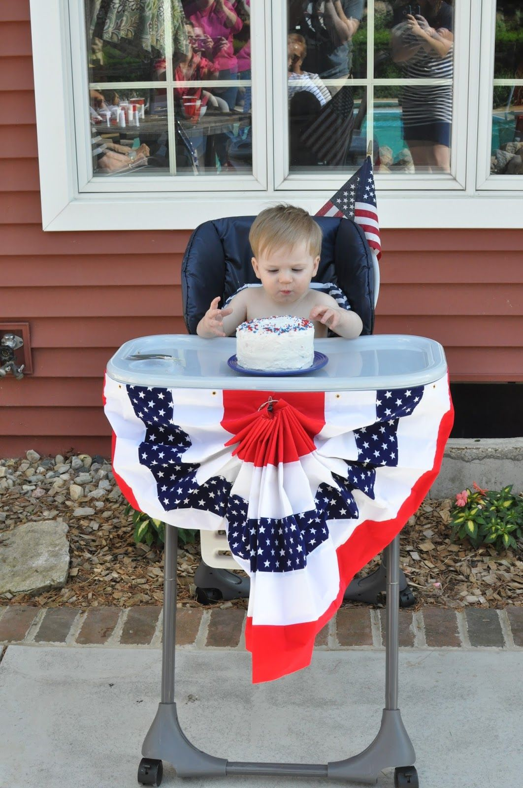 Abraham Lincoln Party First Birthday Patriotic Red