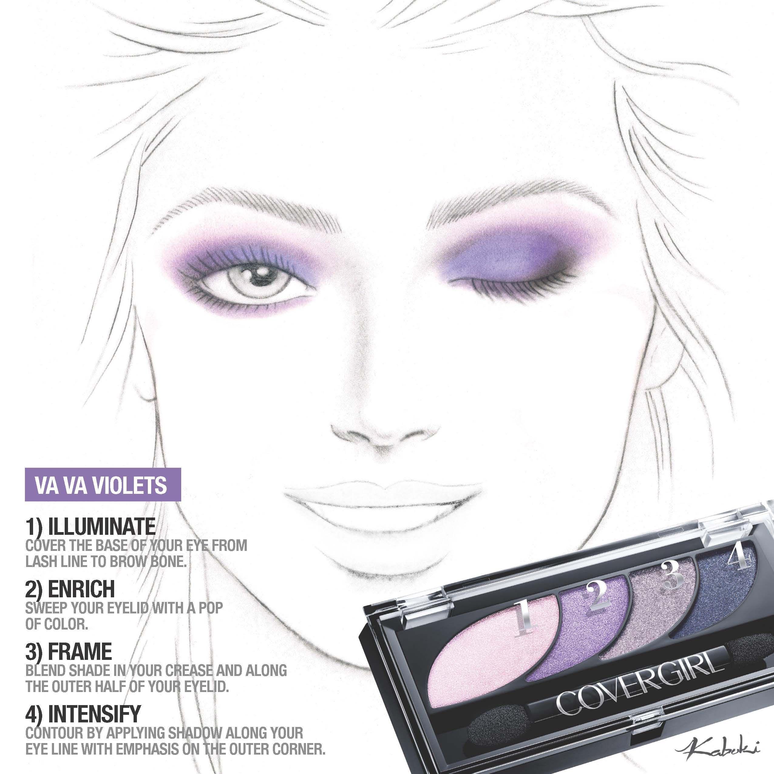 Purple Smoke Eye Shadow Howto: From Light Lavender To Deep Purple Smolder,
