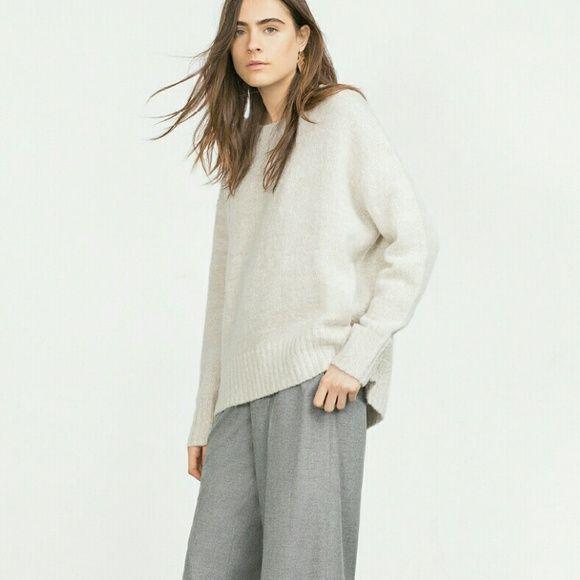 Zara knit Oversized sweater, 100% rayon Zara Sweaters Crew & Scoop ...