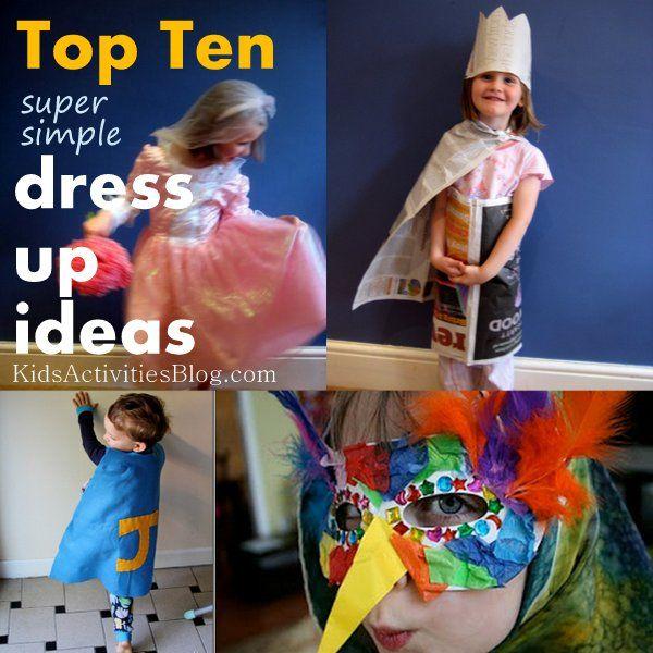 Super simple dress up - fabulous ideas!