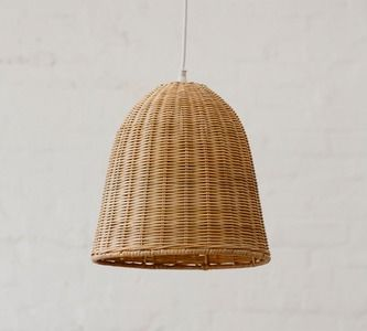 Small Rattan Pendant Light Shade Natural from Down that ...