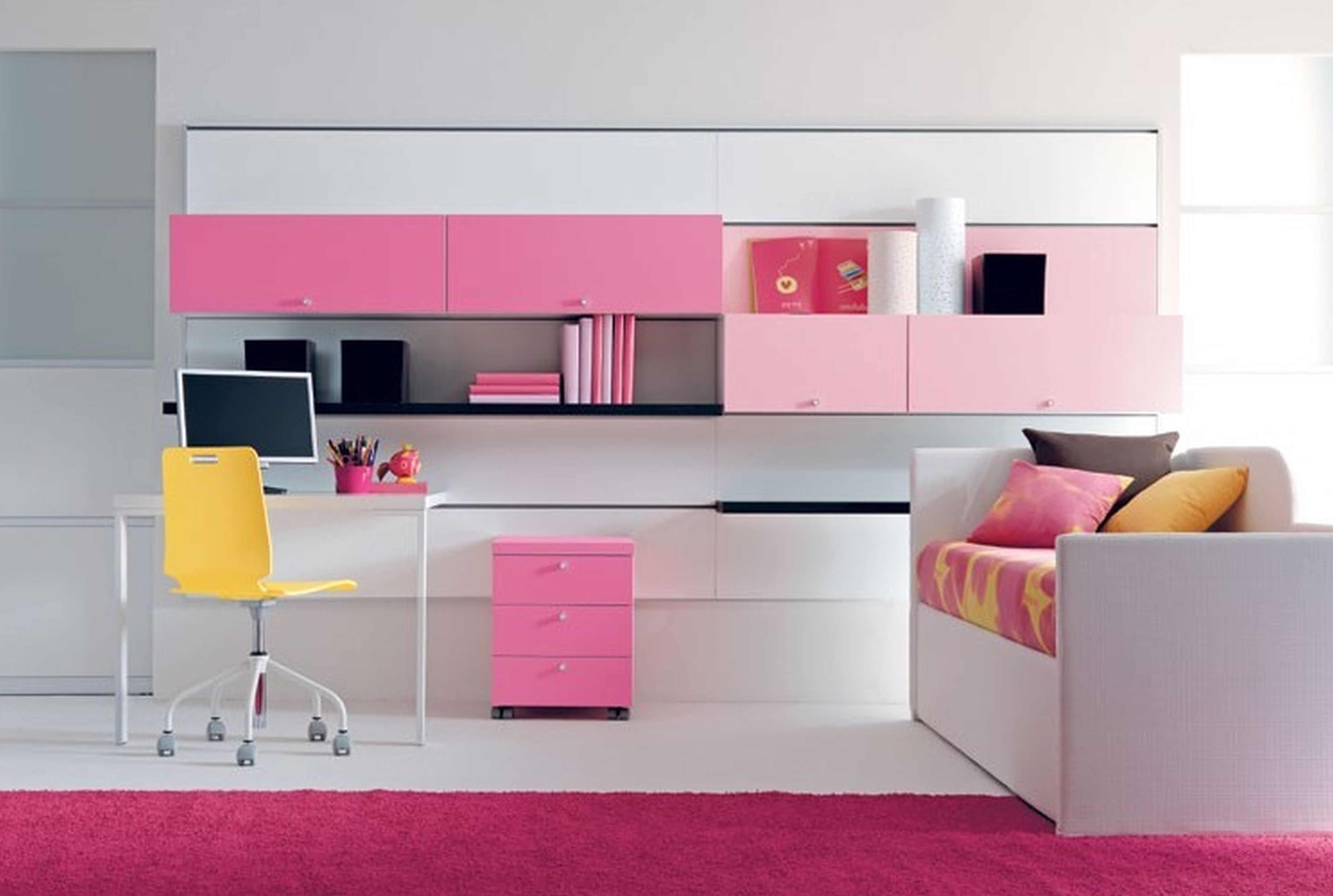 Fab White And Pink Themes Girls Bedroom Ideas Added Custom