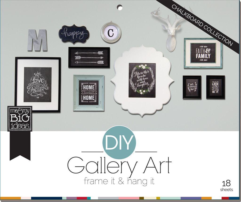 Chalkboard DIY Gallery Art Pad | me & my BIG ideas | SHOP NOW ...