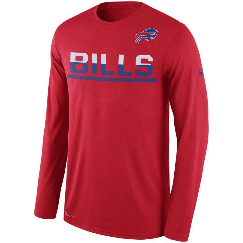 Buffalo Bills Nike Legend Team Practice Long Sleeve Performance T Shirt Red Products Shirts Nike Men Nike