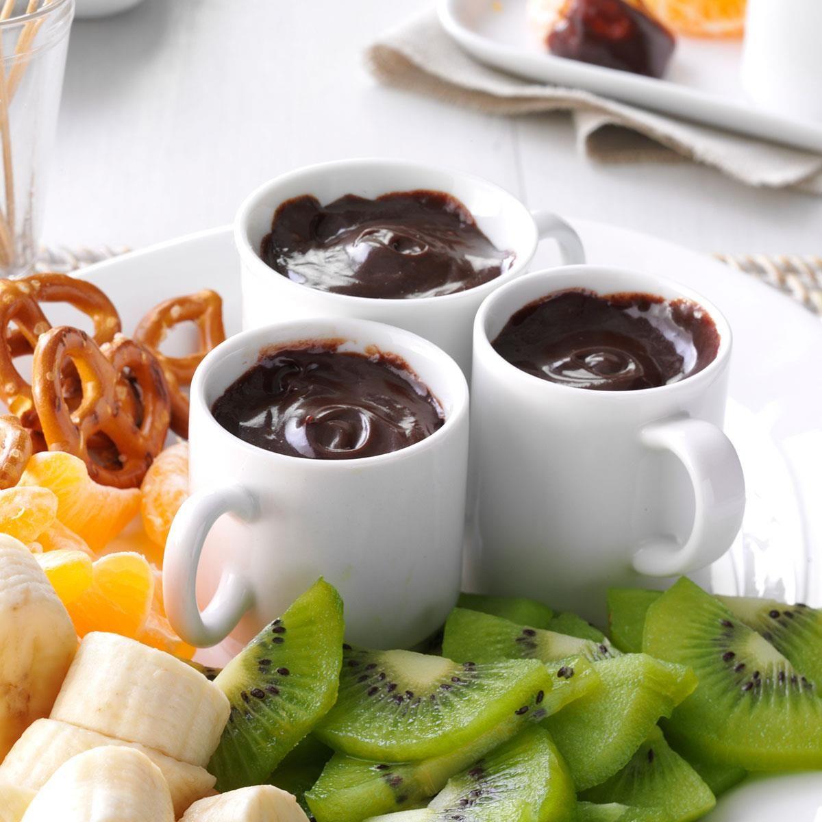 Chocolate Caramel Fondue Recipe Sweetened Condensed Milk Recipes Milk Recipes Condensed Milk Recipes