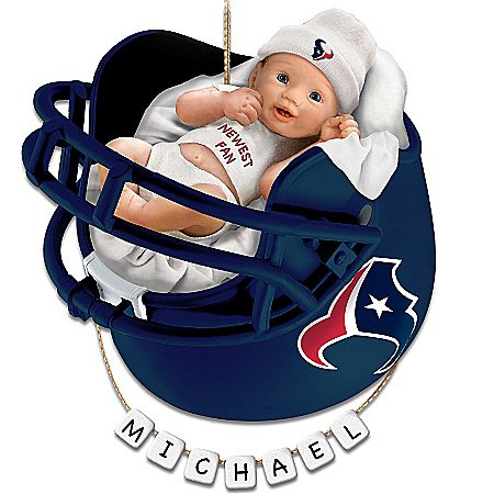 Houston Texans Personalized Baby s First Christmas Ornament  9432c7e7f