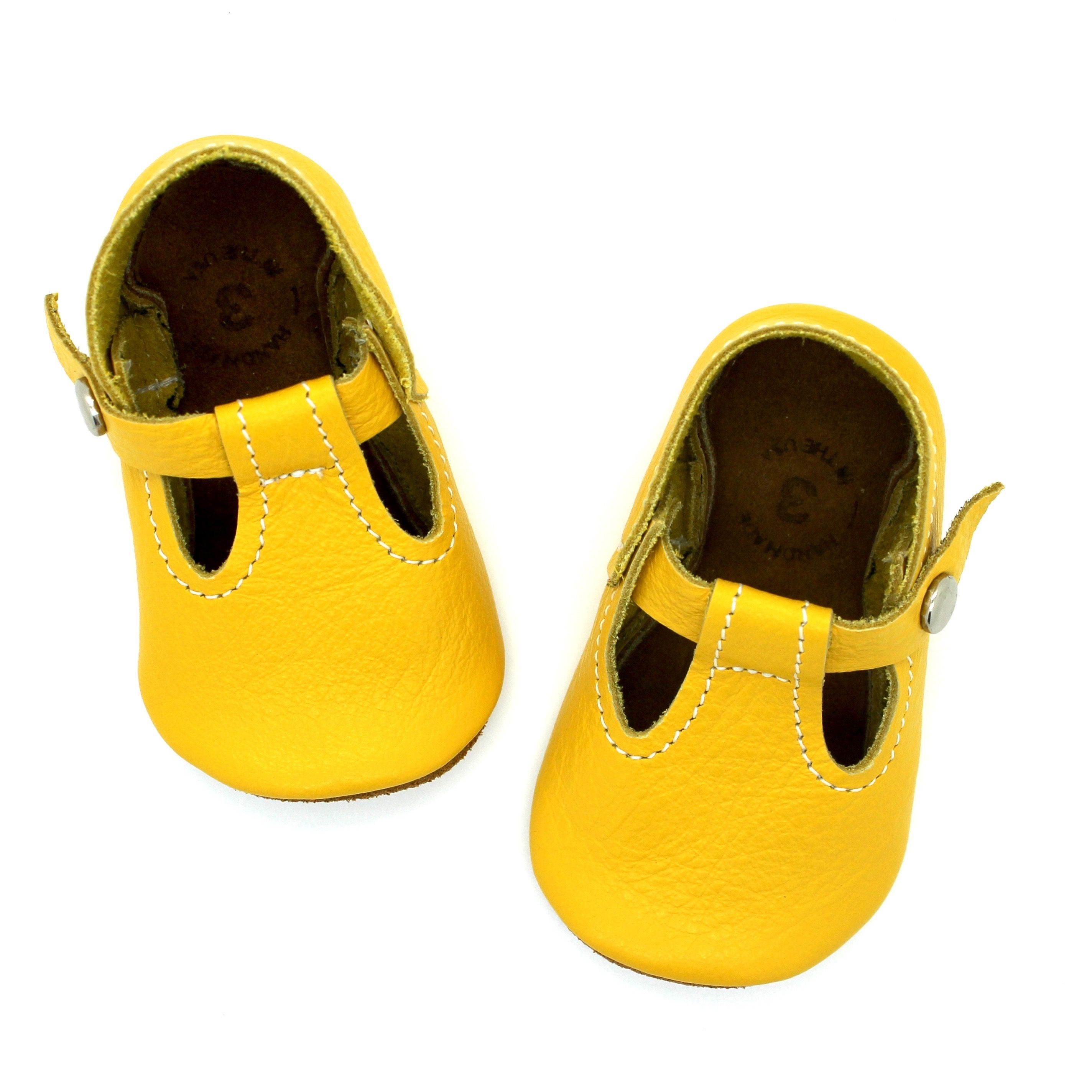 the original soft soled t strap canary mon petit
