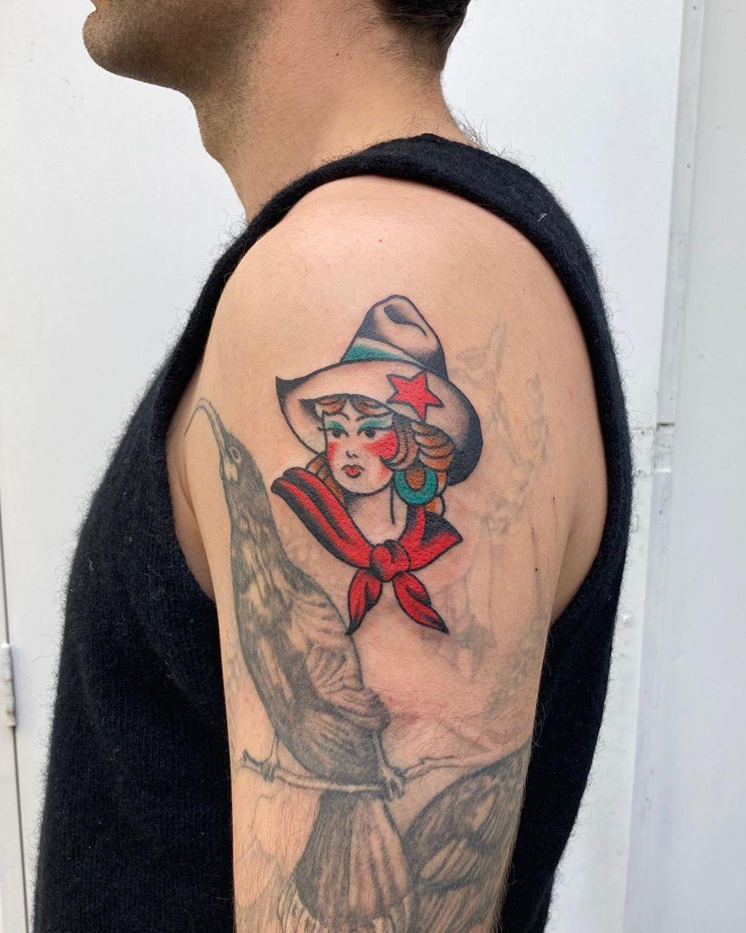Milton Zeis Cowgirl for Joe! Thanks again @morrisjona !!! I've got time to tattoo next week, dm/email to book in! . . . . #tattoo #tattoos #traditional #traditionaltattoo #traditionaltattoos #trad #tradtattoo #tradtattoos #tradtattoos_rtw #americantraditional #americantraditionaltattoos #tradwork #tradworkers #tradworkerssubmission #tradworker #colourwork #colour #colourpop #oldlines #oldschool #oldschooltattoos #wellington #wellingtontattoo #wellingtontattoos