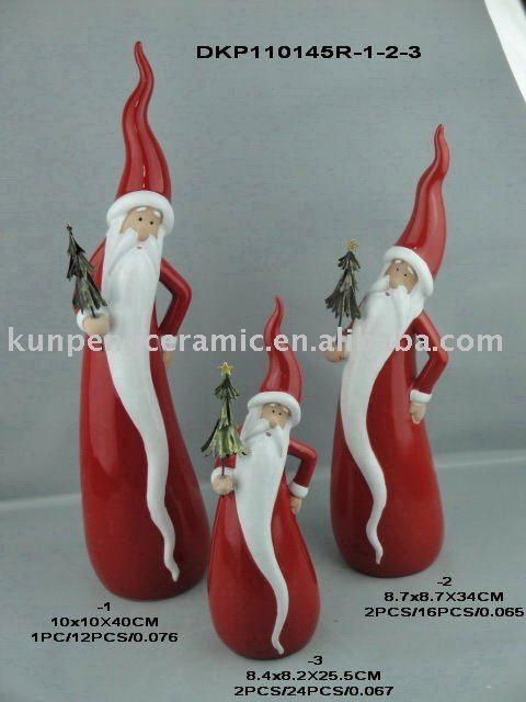 ceramic santa t pfern weihnachtsmann keramik und. Black Bedroom Furniture Sets. Home Design Ideas