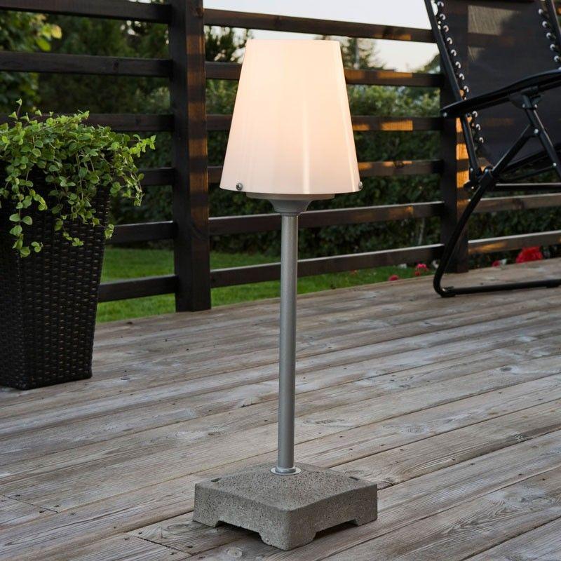 Konstsmide Lucca Short Outdoor Floor Lamp Opal (With