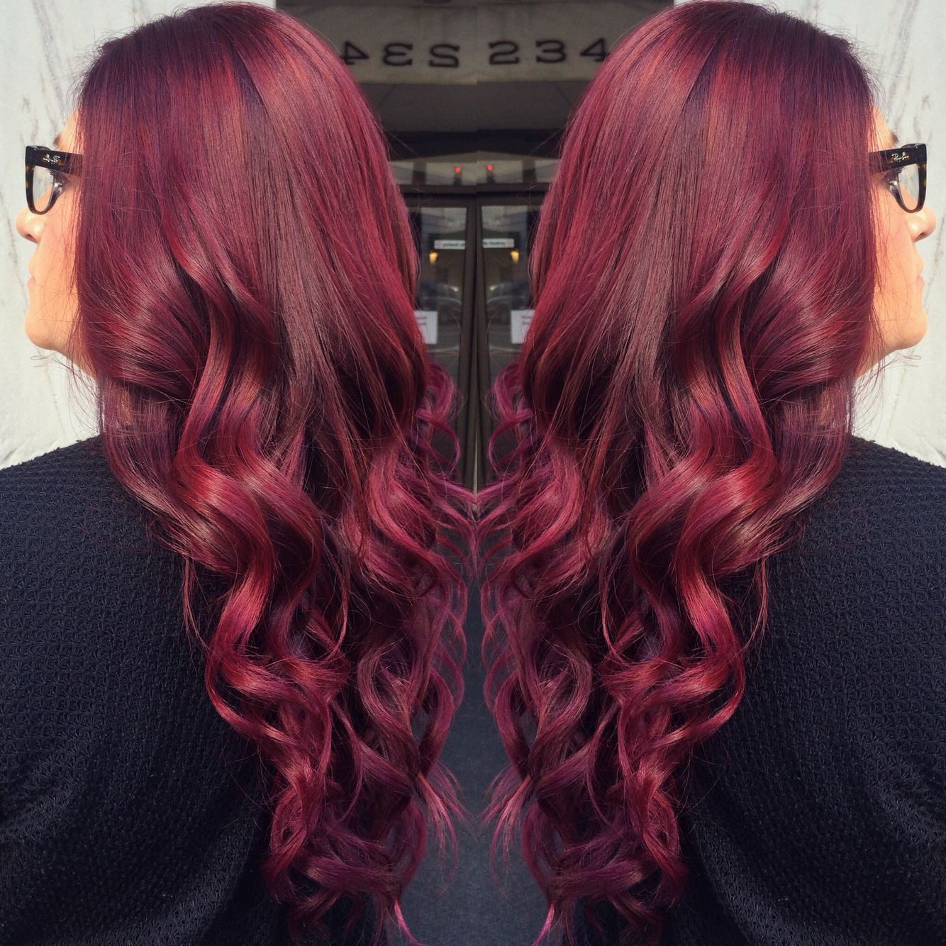 Red violet fall hair color | Hair things ️