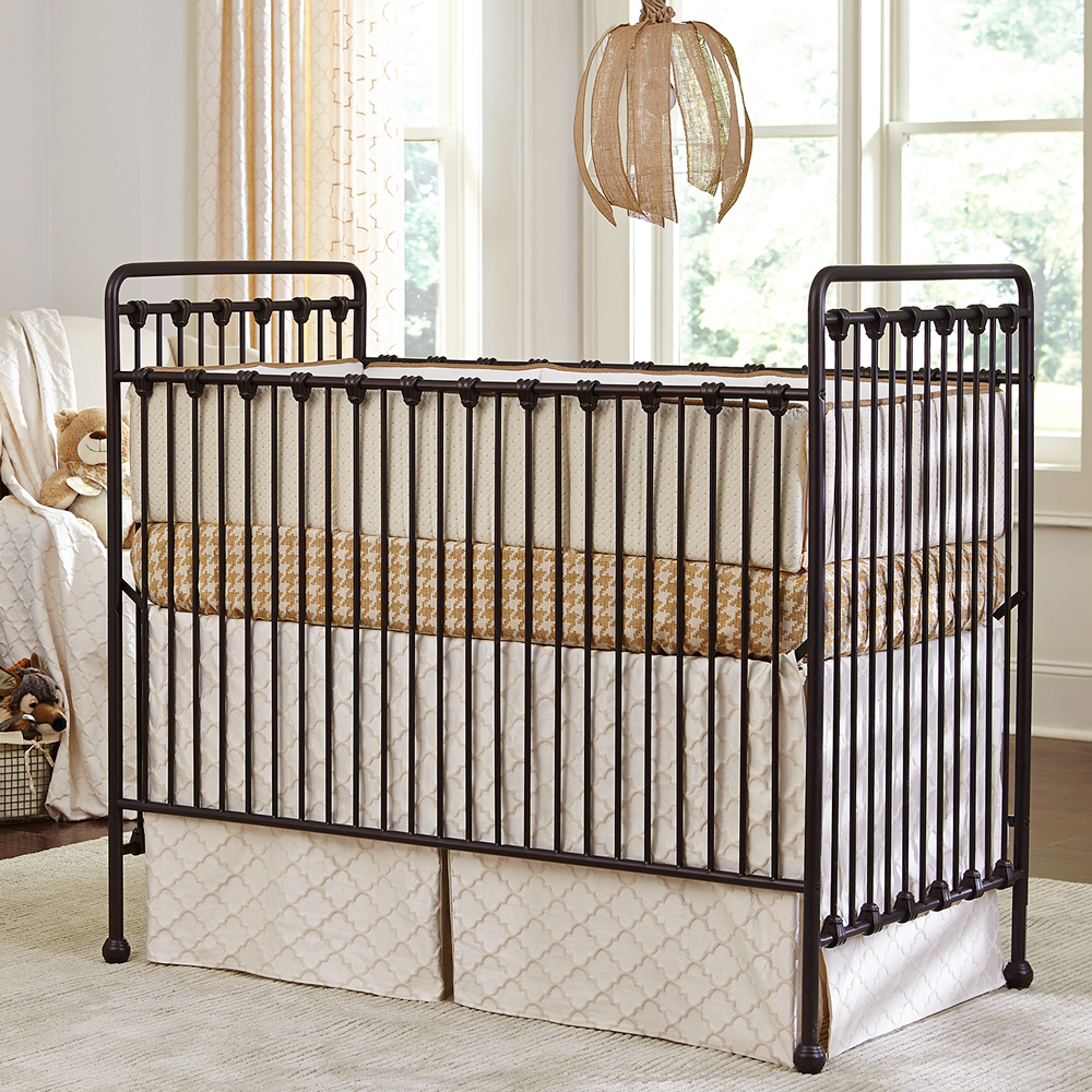 Unfinished crib for sale - Willa Crib Bronze Is Classic And Timeless Metal Crib In A Lovely Dark Satin Oiled