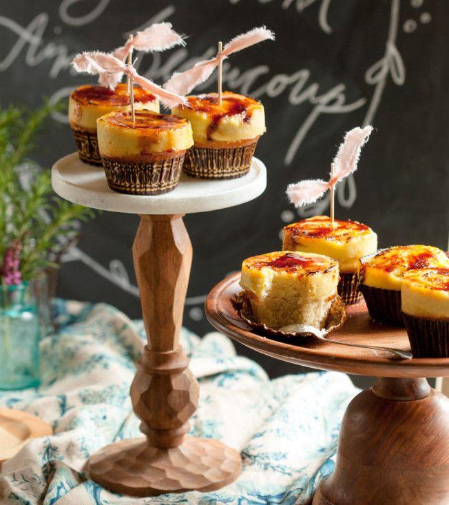 Lavender Creme Brûlée Cupcakes