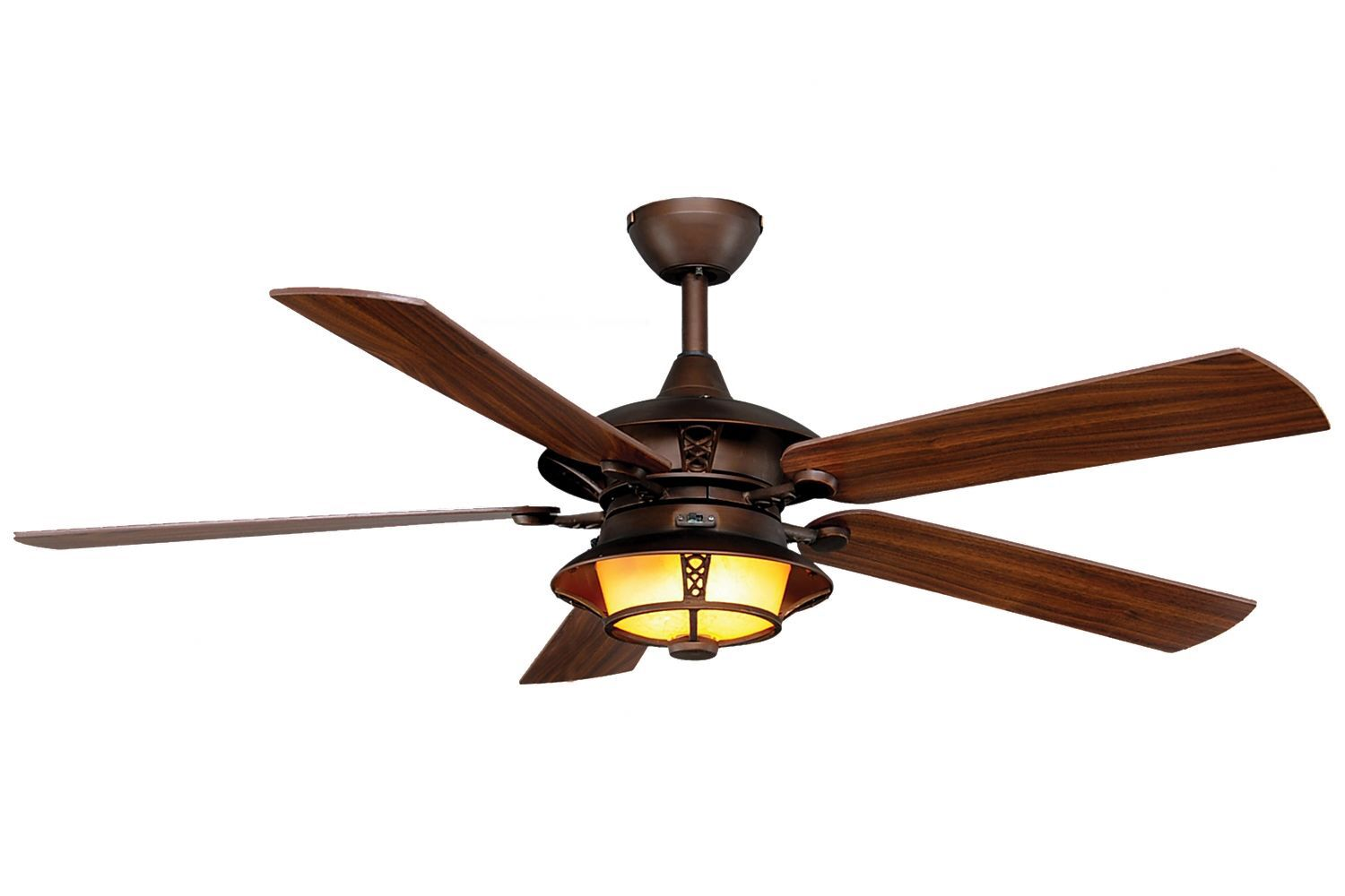 52 Tibuh Punched Metal Crystal 5 Blade Ceiling Fan With Remote
