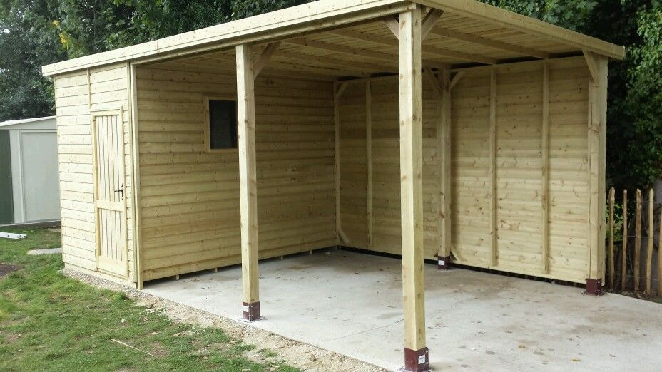 Pent Workshop Garage Horse Shelter Shed Gym Tool Store